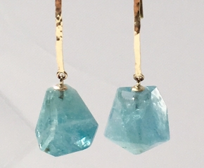 14k Yellow Gold & Aquamarine Nuggets