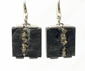 Sterling & Pyrite in Slate
