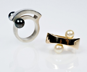 Sterling & 18k w/ Kenetic Keshi & Akoya Pearls