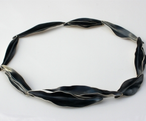 Sterling Silver w/ Patina Foliage Collar